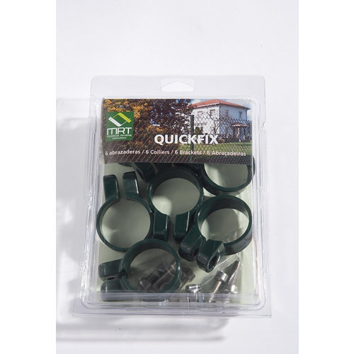Abrazadera pvc verde para tubos de 48 mm máximo