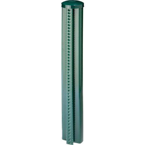 Poste de acero y pvc verde de 48mm y 90 cm