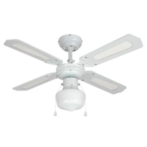 Ventilador de techo con luz barbade blanco 91 cm motor ac