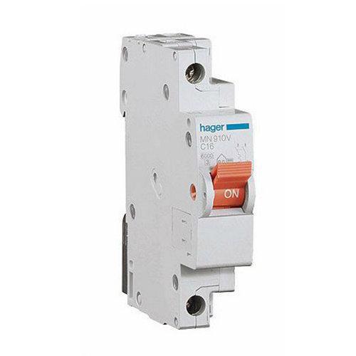 Interruptor magnetotérmico unipolar hager de 10a con 1 módulos
