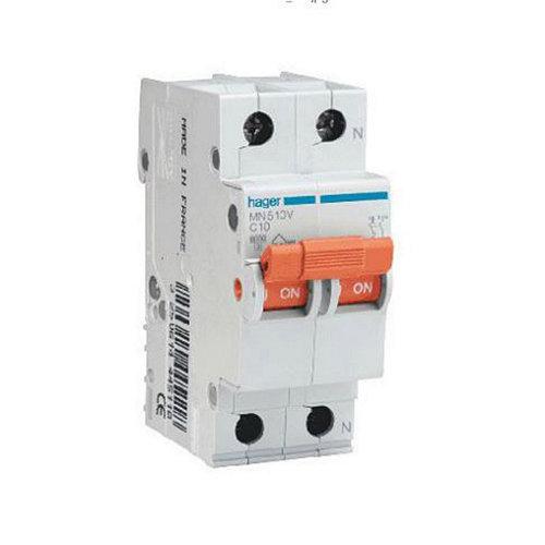 Interruptor magnetotérmico bipolar hager de 25a con 2 módulos