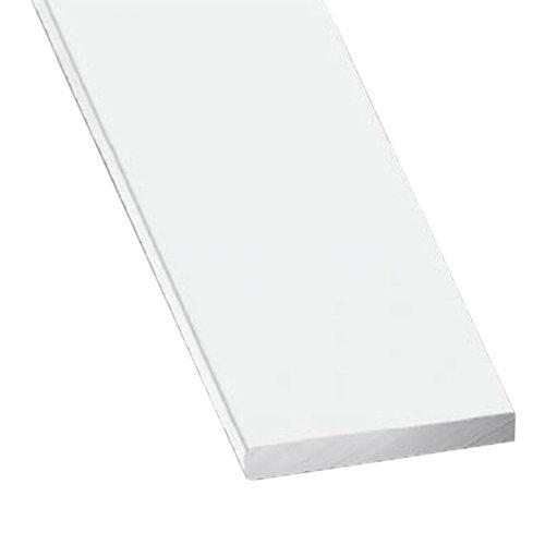 Perfil forma rectangular de aluminio en bruto lacado