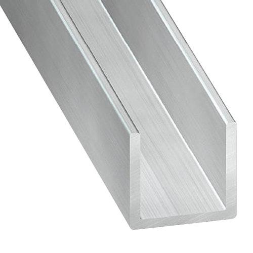 Perfil forma u de aluminio en bruto en bruto