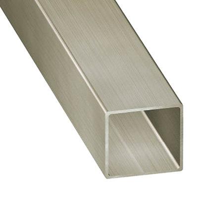 Perfil Forma Tubo Cuadrado De Aluminio En Bruto Mate Leroy Merlin