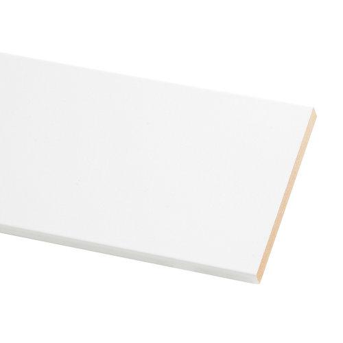 Tapeta de mdf lacada blanca 90x10 mm x 2,20 m (ancho x grueso x largo)