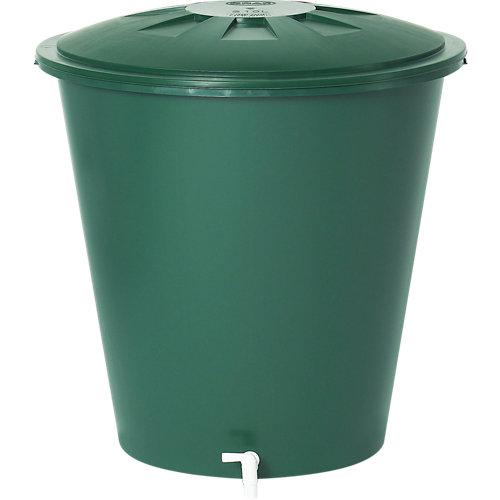 Depósito de agua redondo verde de 210l