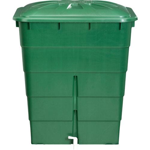 Depósito de agua rectangular verde de 300l