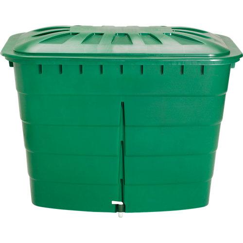 Depósito de agua rectangular verde de 520l