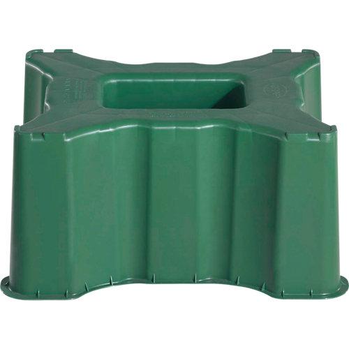 Base para depósito rectangular de 300l verde