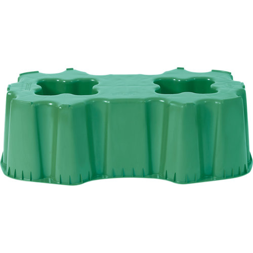 Base para depósito rectangular de 520l verde