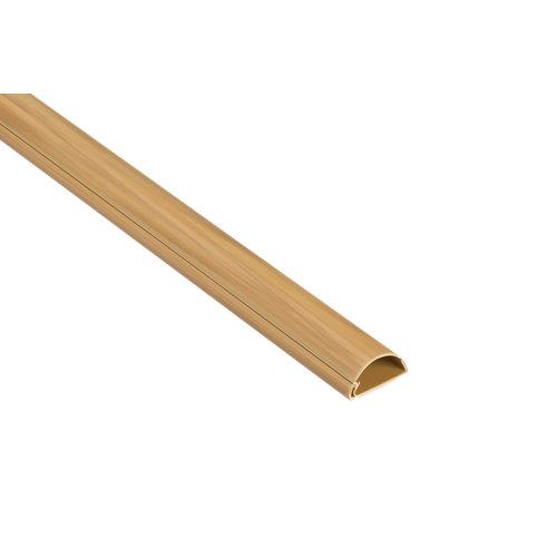 Salvacable adhesivo madera de 30 mm 1m