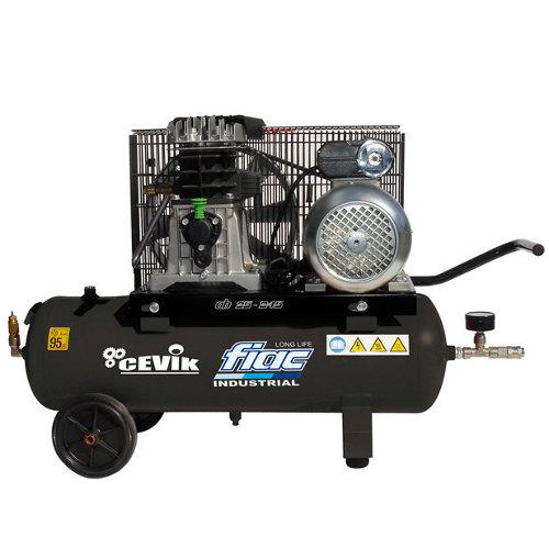 Compresor correas cevik pro ca-ab25/3m de 3 cv y 24l de depósito