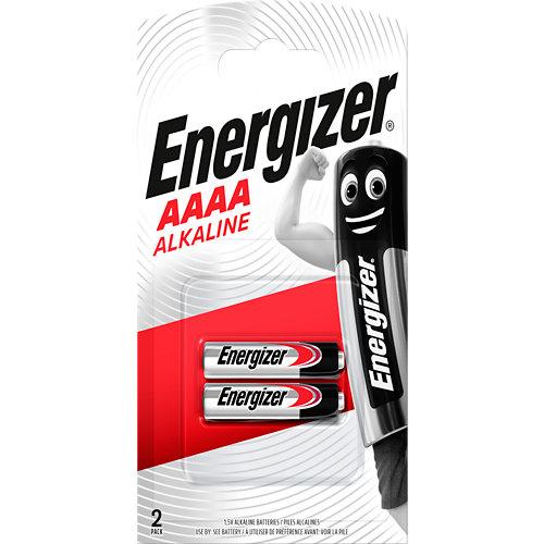 Pack de 2 pilas energizer lr61 aaaa 9v
