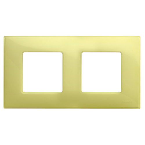 Marco doble simon 27 neos amarillo mate