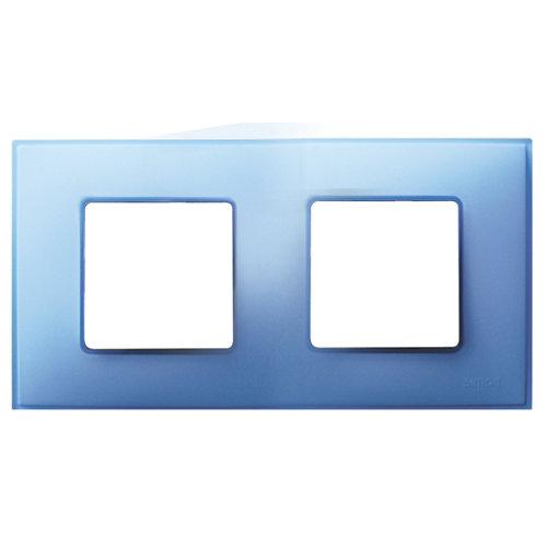 Marco doble simon 27 neos azul mate
