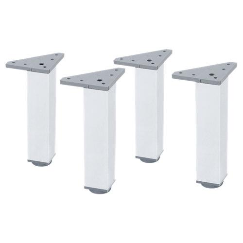4 pata regulable de aluminio para mueble hasta 20 cm