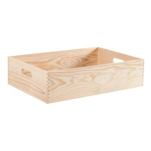 Caja de pino de 15x60x40 cm y capacidad de 36l