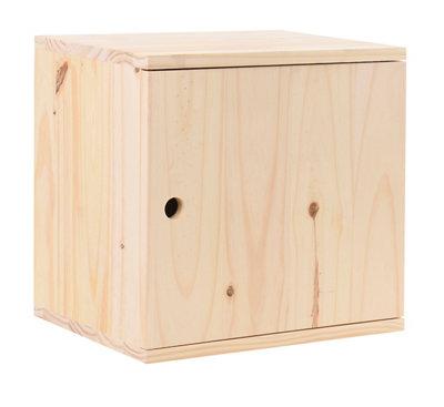 Cajonera de madera  de 36x36x30cm y capacidad 38l