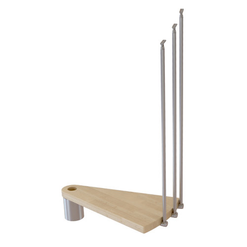 Kit de peldaños ring para escalera de diametro 158cm cromo/natural