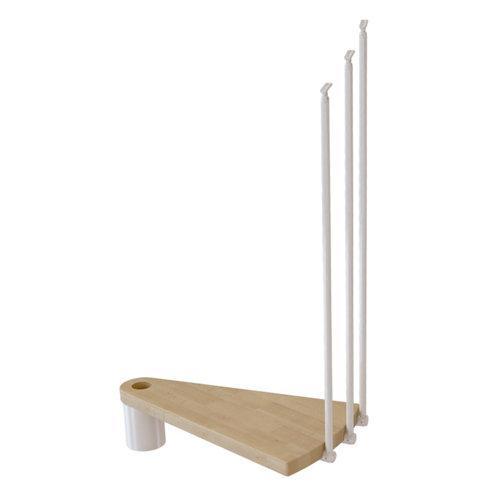 Kit de peldaños ring para escalera de diametro 158cm blanco/natural