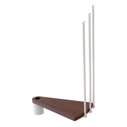 Kit de peldaños ring para escalera de diametro 148cm blanco/nogal