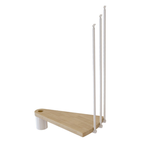 Kit de peldaños ring para escaleras de diametro 138cm blanco/natural