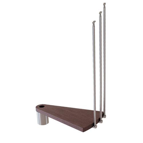 Kit de peldaños ring para escalera de diametro 128cm cromo/nogal