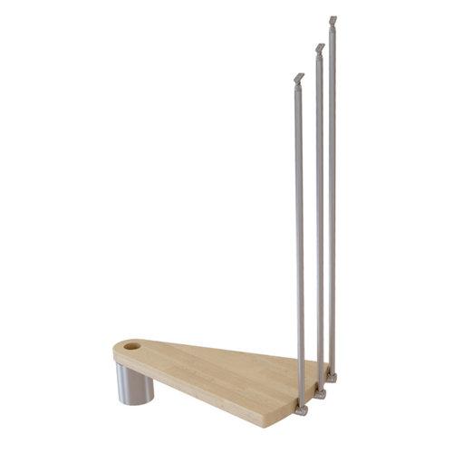 Kit de peldaños ring para escalera de diametro 128cm cromo/natural