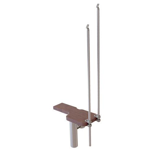 Kit de peldaños mini cromo/nogal