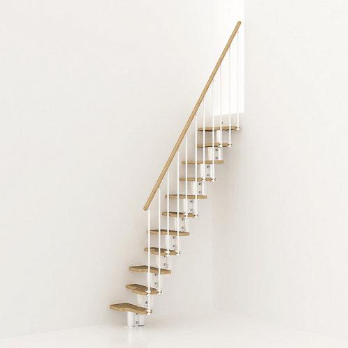 Escalera de paso japones mini uso interior ancho total 65cm blanco/natural