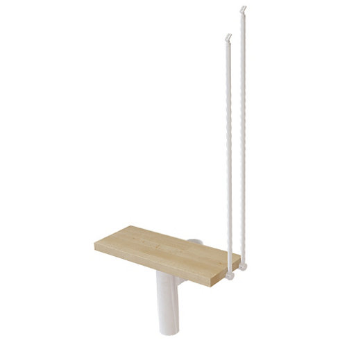 Kit de peldaños long ancho 90cm blanco/natural