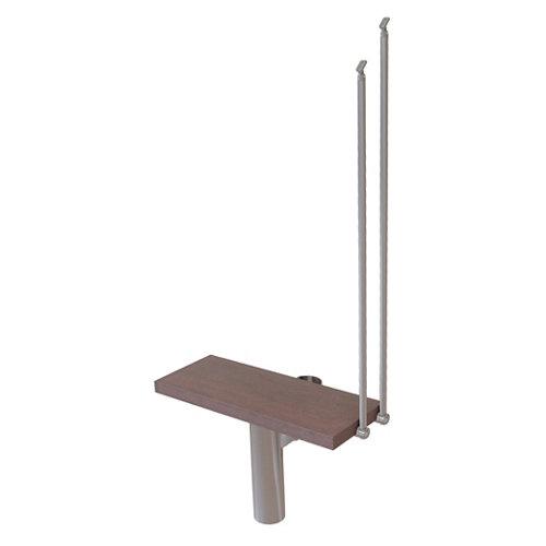 Kit de peldaños long ancho 75cm cromo/nogal