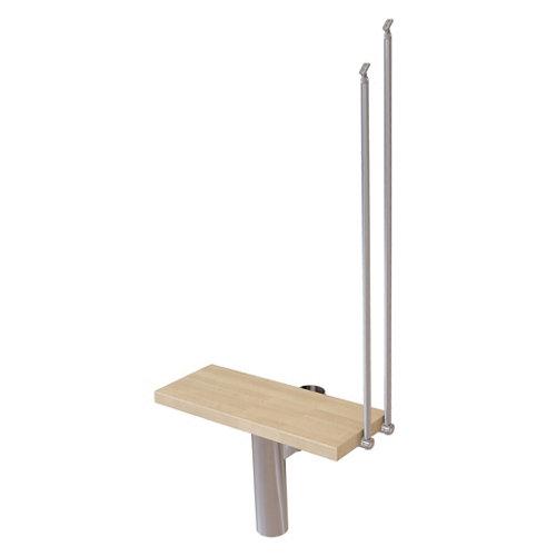 Kit de peldaños long ancho 65cm cromo/natural