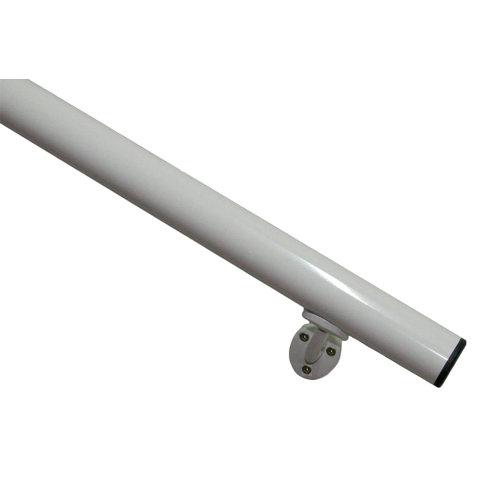 Kit pasamanos de aluminio en color aluminio blanco de 2m soportes inlcuidos