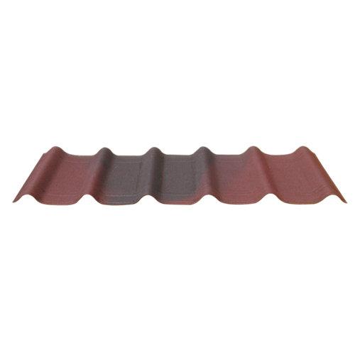 Pack 7 tejas asfálticas rojo onduvilla 400x1060x2.7 mm