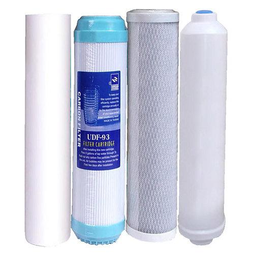 Kit de 4 filtros bbagua de repuesto para ósmosis
