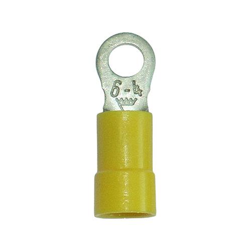 Pack de 10 terminales amarillos redondos 4,3/4-6 mm²