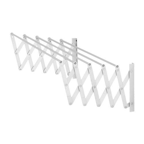 Tendedero barras extensible para pared de acero de 13x101x3 cm