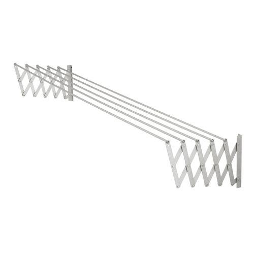 Tendedero barras extensible para pared de acero de 13x161x3 cm