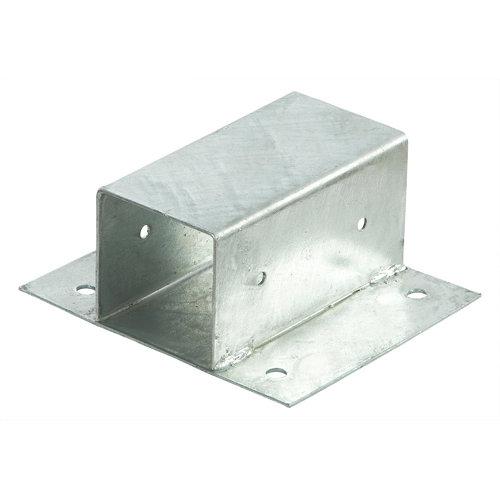 Soporte poste para pared de acero galvanizado para poste de 7 x 7 cm