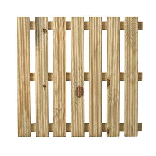 Baldosa de madera de pino para exterior 50x50 cm