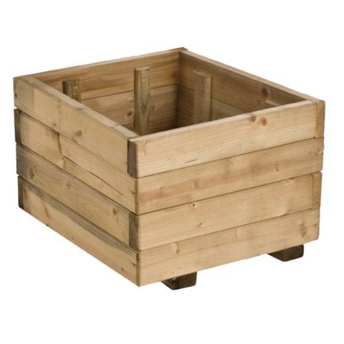 Jardinera de madera forest style beige 40x27 cm