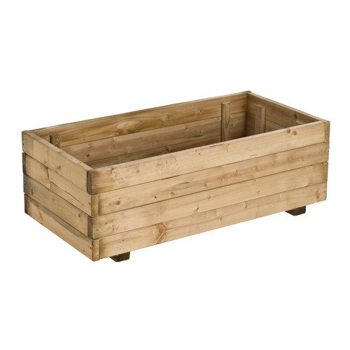 Jardinera de madera forest style beige 80x27 cm
