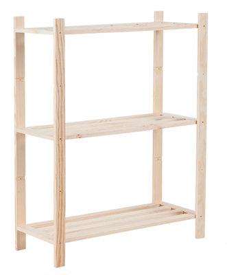 Estantería de madera en kit de 70x90x30 cm y carga max. 30 kg por balda