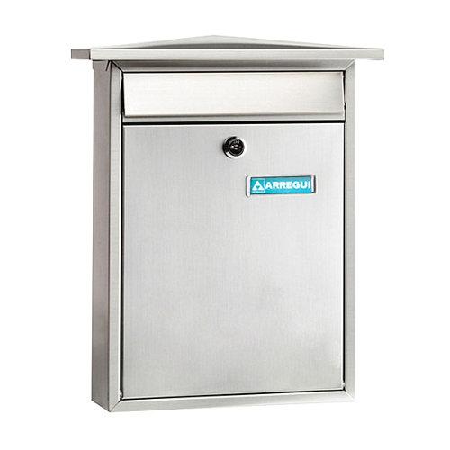 Buzón de metal en gris / plata de 38.5x31x10 cm