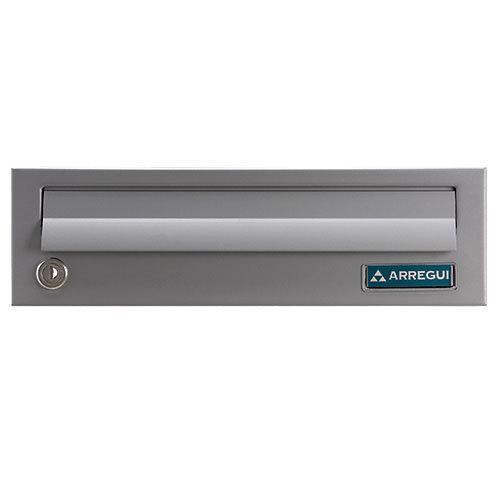 Buzón de acero en gris / plata de 11x37.5x27.5 cm