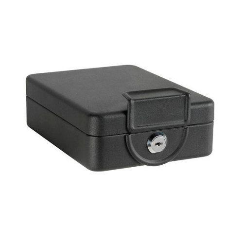 Caja de caudales en acero negro de 16x7.5x20.3 cm