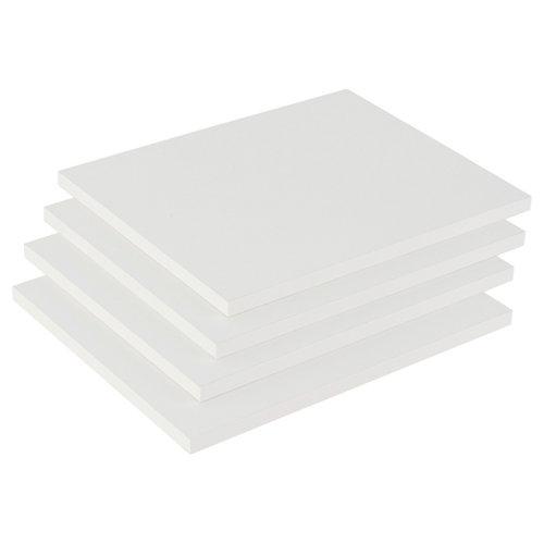 Kit de 4 baldas madera blanca 33x40 cm blanco