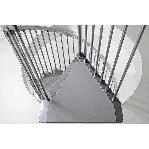 Escalera de caracol steel circular uso interior diametro 120cm cromo