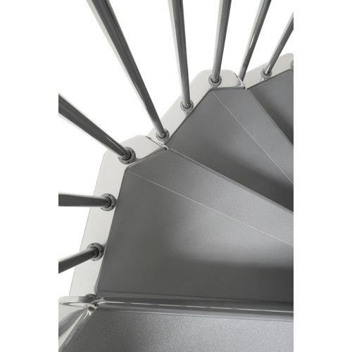 Kit de peldaños steel para escalera de diametro 160cm cromo